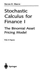 Stochastic calculus for finance I.pdf