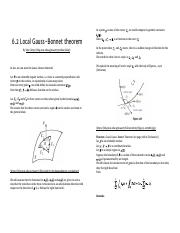 6.2 Local Gauss-Bonnet theorem - MA4271 Differential Geometry