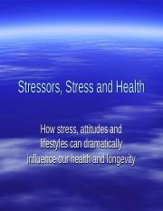 Stress and Well-Being