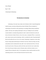 Archaeology Final Paper