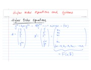 Higher order Equations and Systems