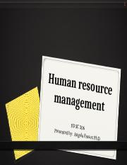 Human Resource Management Staffing