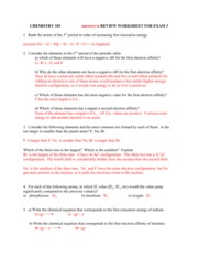 Exam 1 Worksheet Key Chemistry 105 Answers To Review Worksheet For