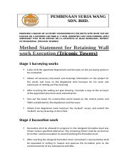 Method Statement for Retaining Wall.docx
