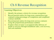 ch 8 Revenue Recognition