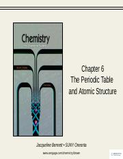 Chapter 6- atomic structure  Periodic Table