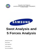 5 Forces and Swot