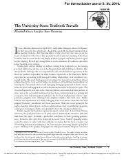 The University Store Textbook Travails