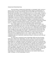self other relationship definition essay
