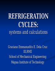 6 REFRIGERATION CYCLES edited.ppt