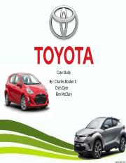 Toyota Project Case Study