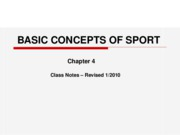 Basic Concepts of Sport NOTES-revJan.2010