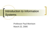 #16 Information Systems