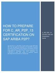 CARP2P13 SAP Certified Application Associate Ariba Procure