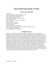 small business guide to FDA