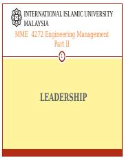 MME 4272 S21617 LEADERSHIP