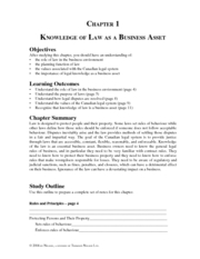 Business Law Questions and Solutions