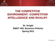 BMGT495 Competitive environment.rev