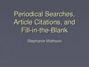 Peridocial Searches Articles Citation & Exercises(1)