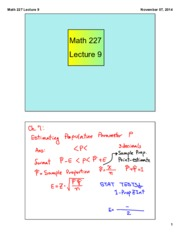 Math 227 Lecture 9