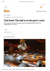 Tata Steel_ The ball is in the govt's court - Livemint