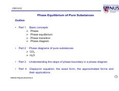 CM1131_L34_Phase Equilibrium of Pure Substances_IVLE