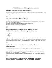 PHIL 201 Lesson 4 Study Guide Answers.docx