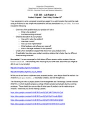 ESE 205 Lab Report 1 Guidelines