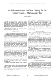 enhancement huffman for compression of mult files