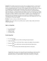 Problem Solving and Algorithms (Scenario 2).docx