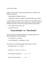 Lecture 5 Notes Equities