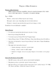 Weapons of Mass Destruction Notes