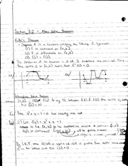 MATH 1231 Lecture Notes on Mean Value Theorem