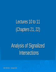 Lecture10 and 11 - Analysis Signalized Intersection.ppt