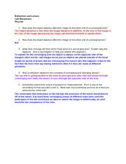 _Physics Refraction and Lenses.docx