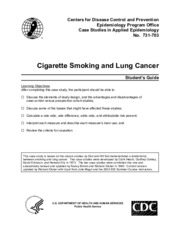 Case control study exercise - Cigarette Smoking and Lung Cancer
