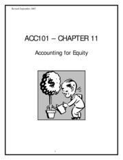 Accounting 2301 Ch11 exercise
