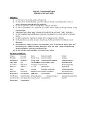 Chemistry of life study guide