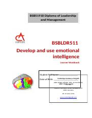 BSBLDR511 Learner Workbook V1.0