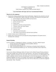 Gastrointestinal Worksheet