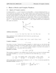 Complex Calculus Notes