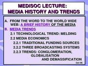 Oct 2006 MEL Media History and Trends