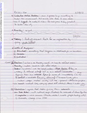 Notes on Political Theories