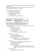 entrepreneurship 426 exam 1 crib sheet
