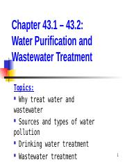 Chapter 43 1 to 43 2(1) ppt - Chapter 43 1 43 2 Water