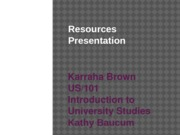 Resources Presentation