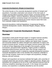 Corporate Development_ Mergers & Acquisitions Research Paper Starter - eNotes.pdf