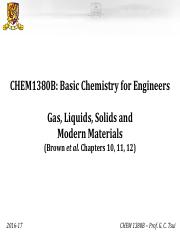 Chem 1380 topic 5 Gas, Liquids and Solids and Modern materials