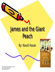 James and the giant peach.ppt