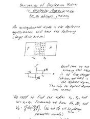 Depletion width approximation derivation -  Derivation of the depletion width approximation for an a